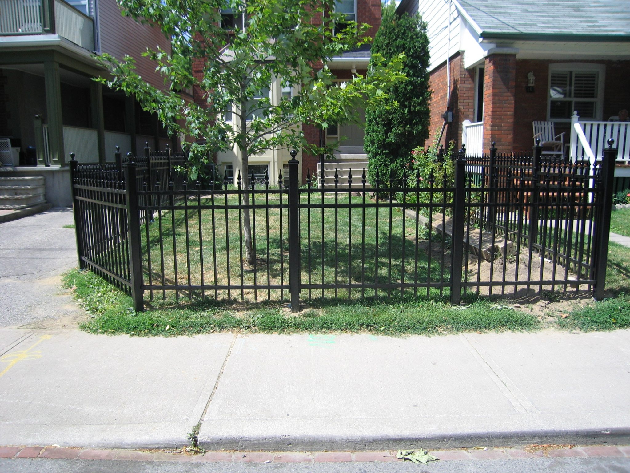 Black fence front view.