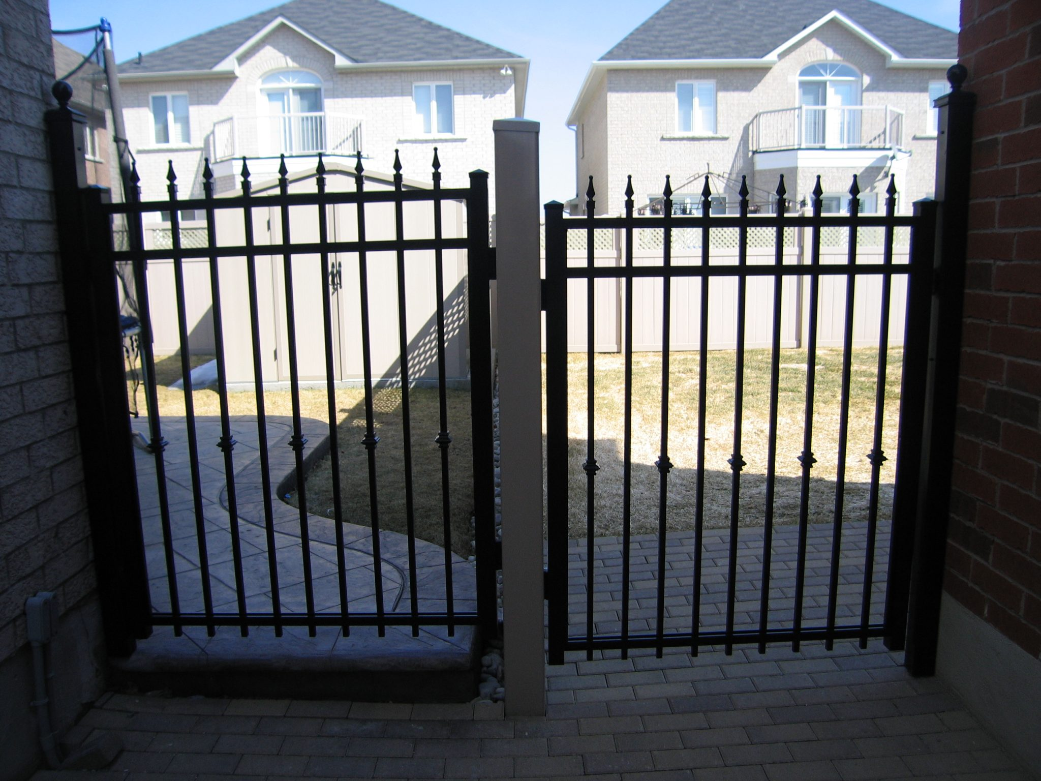 pair of black gates
