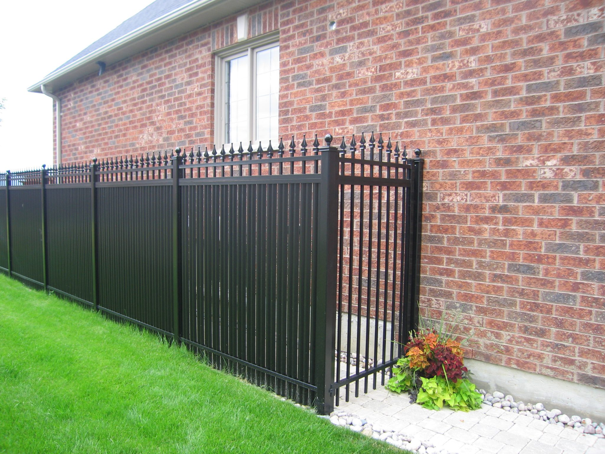 Privacy fence over walkway