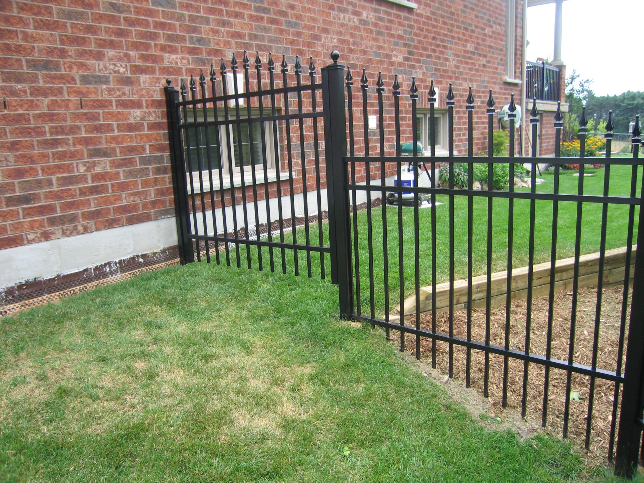 Fence and gate for back garden