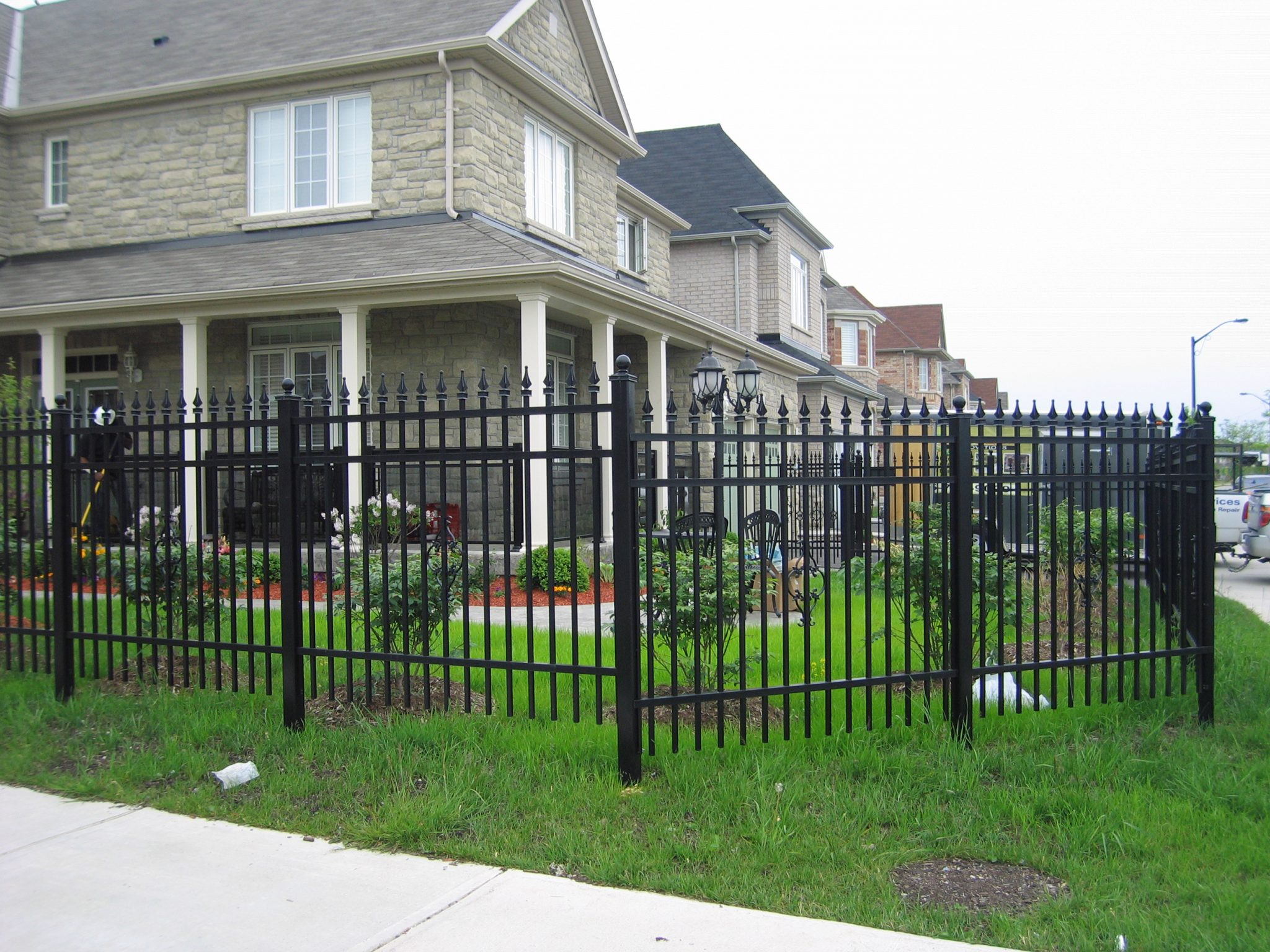 Metal fence for homes.