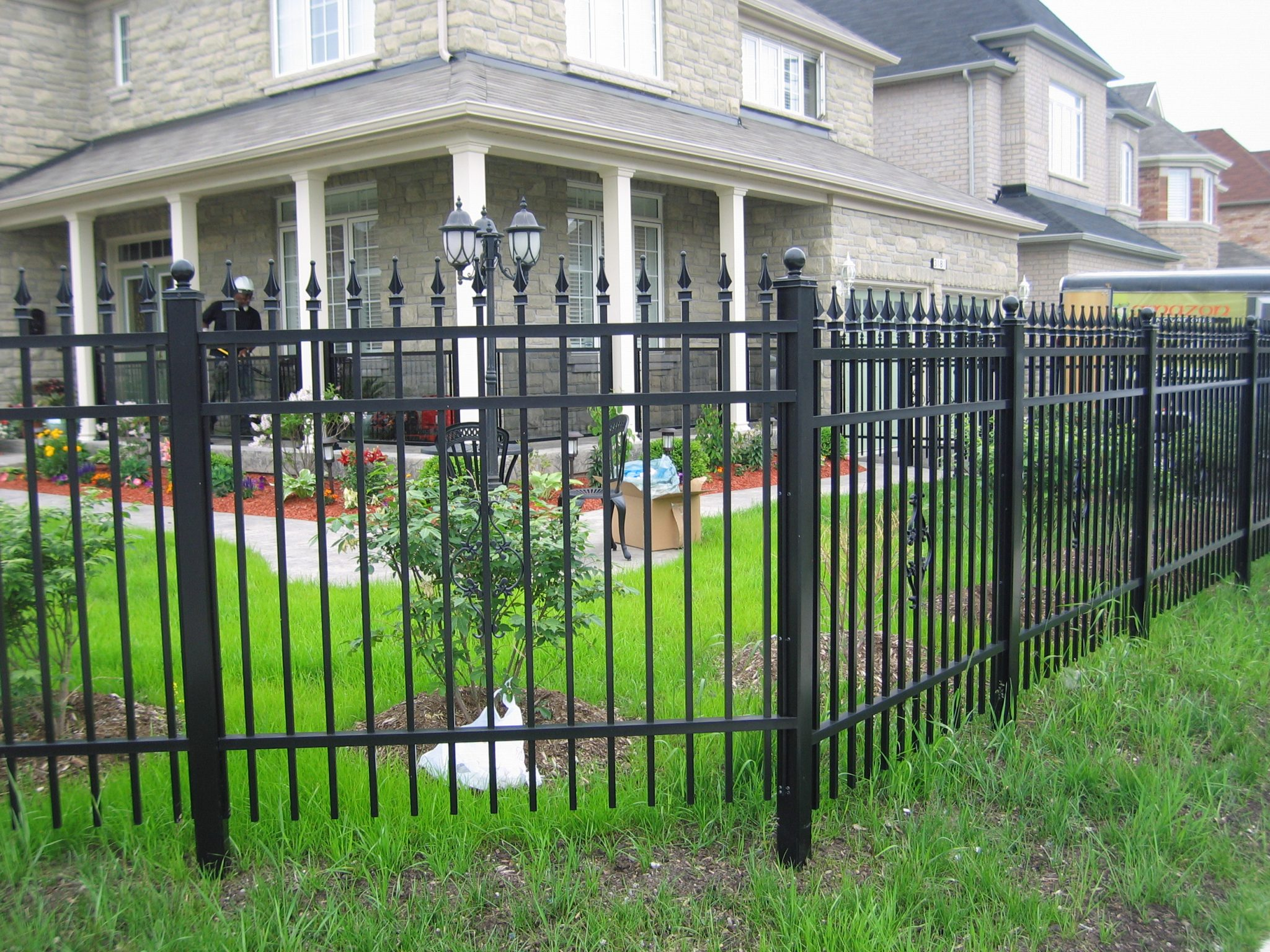Metal fencing for homes