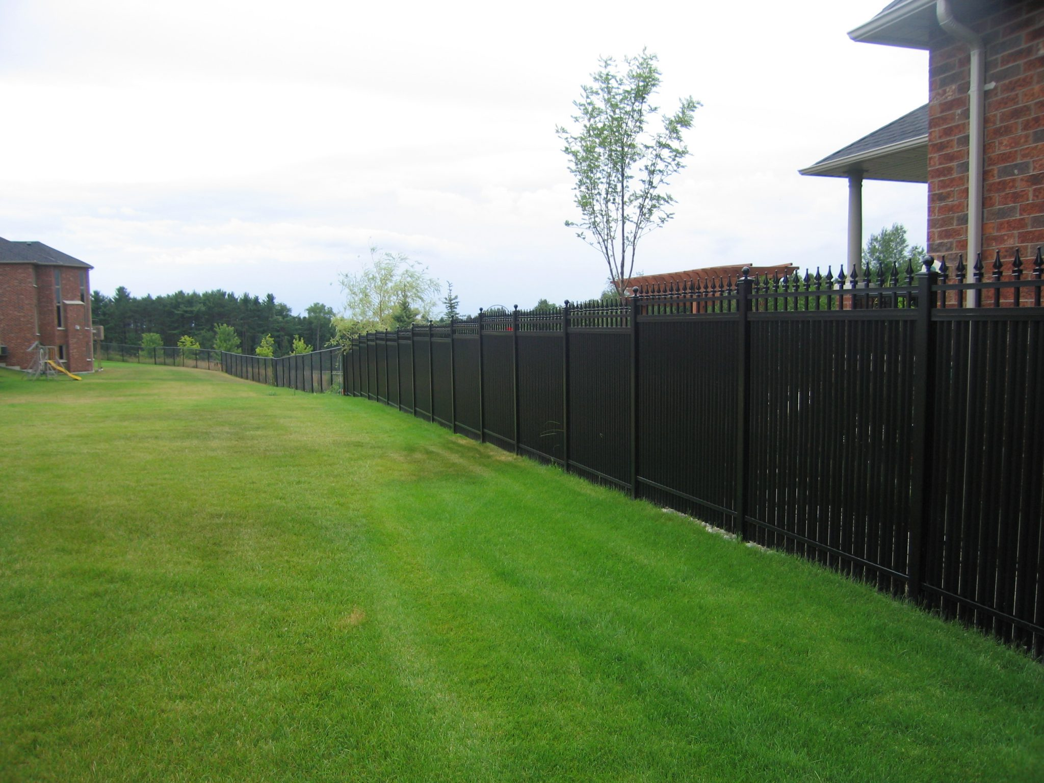 Subdivision divided by privacy fences