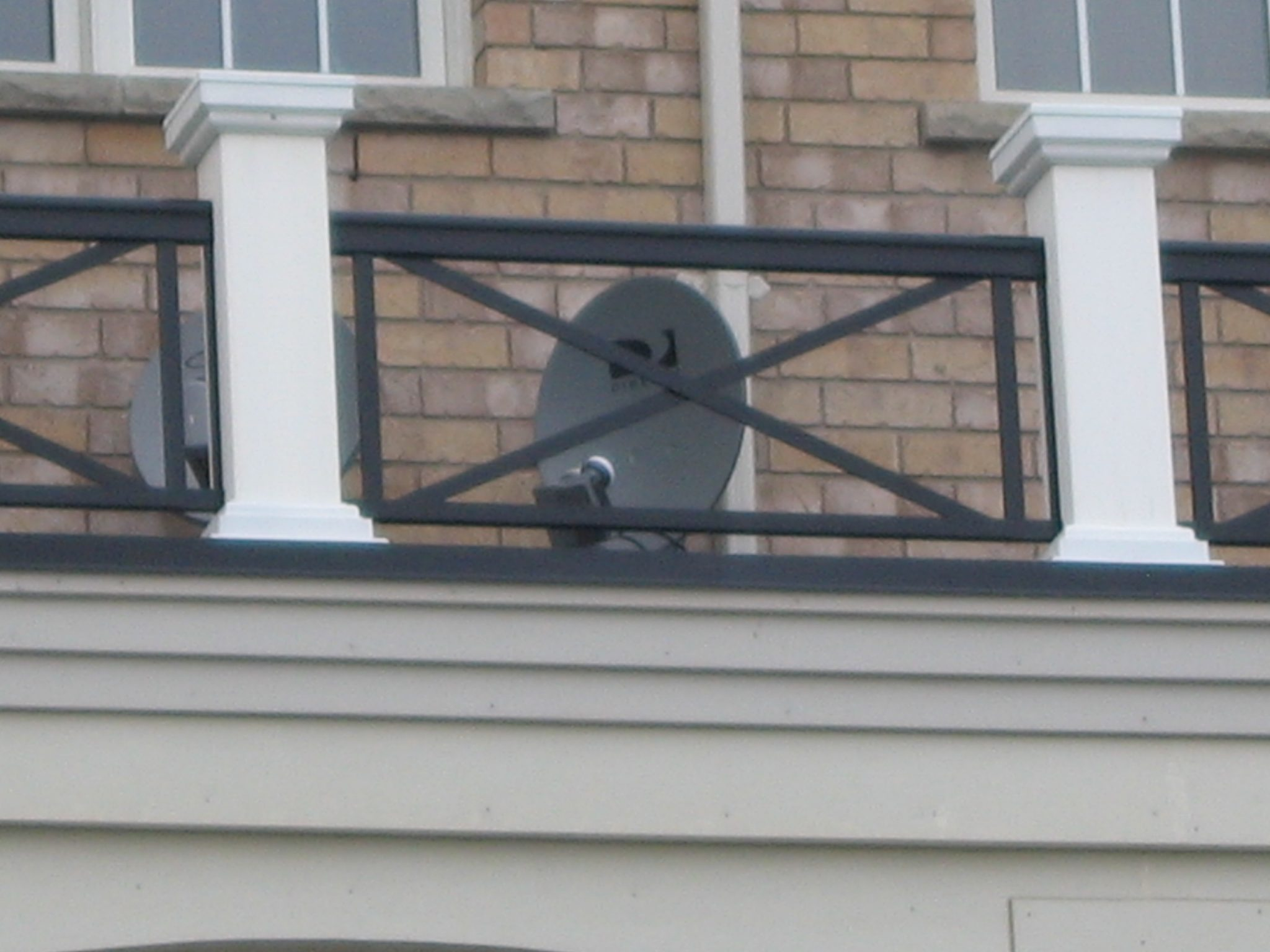 Balcony with satellite