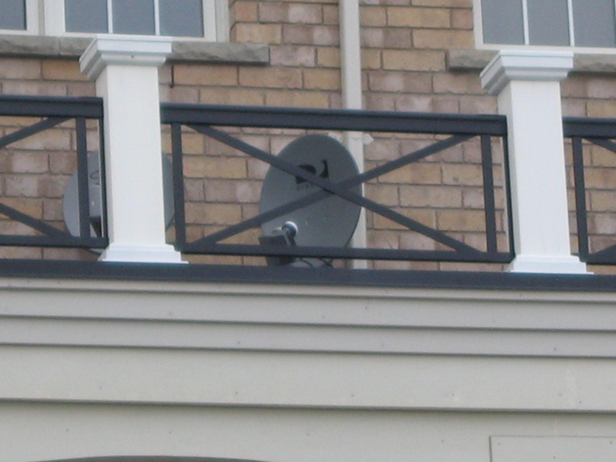 Balcony with satellite