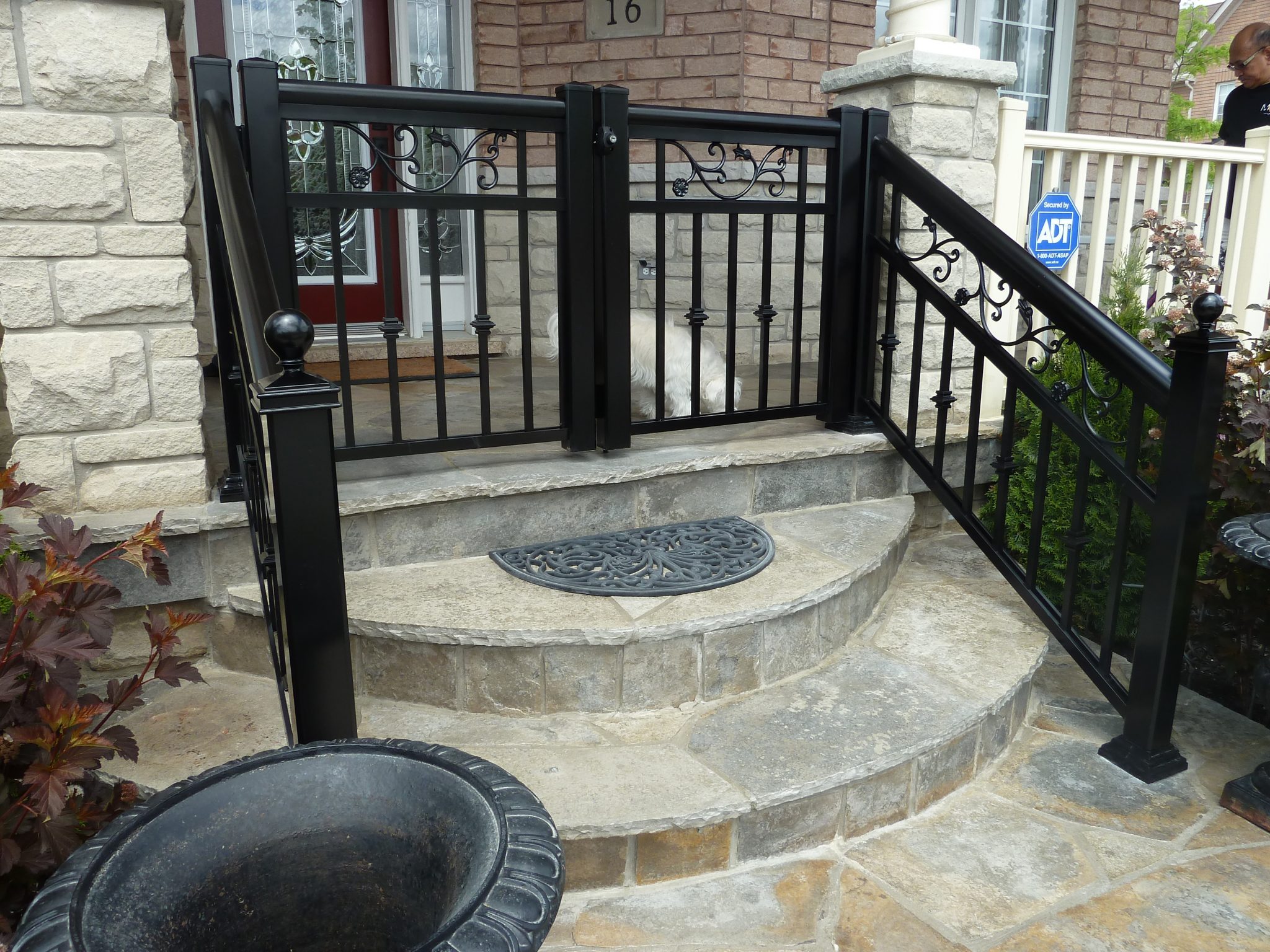 railing and gate combo
