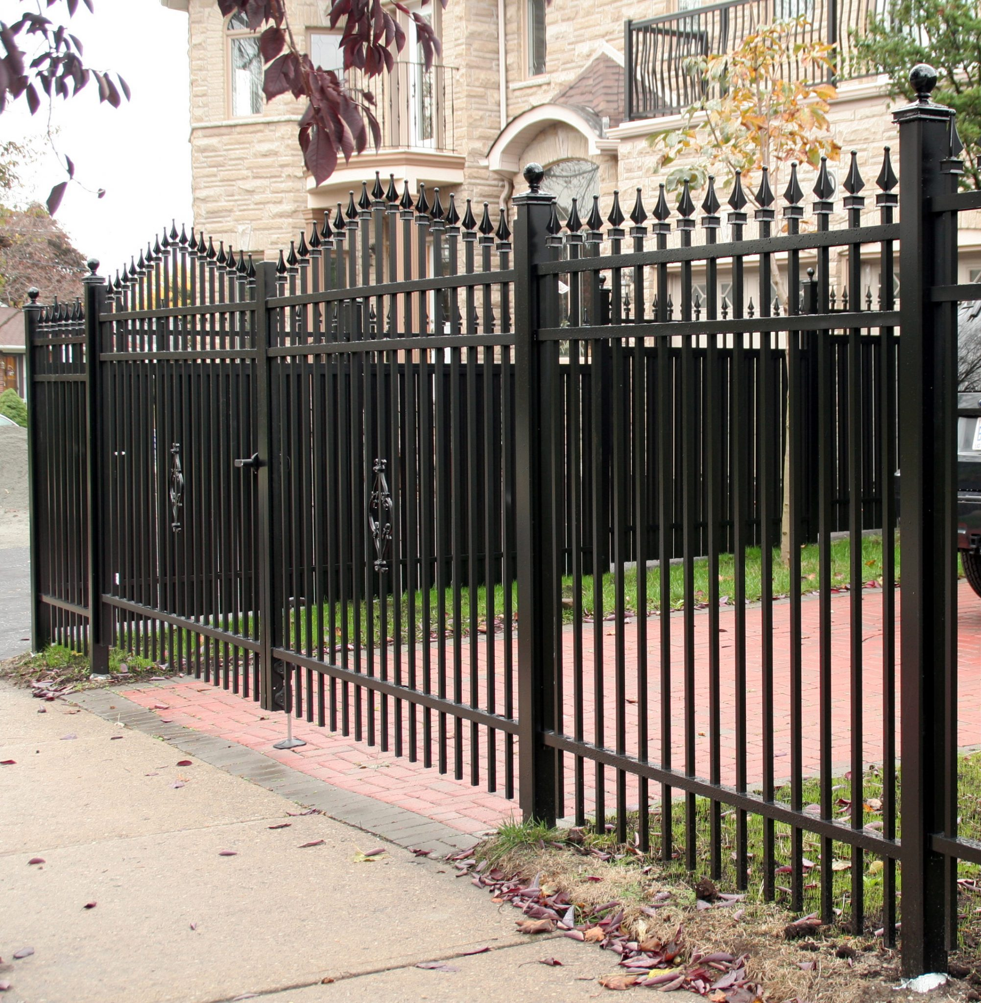 Driveway gate doubled