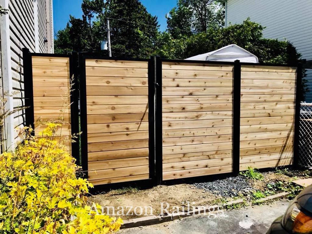 Wood Privacy Fence with Gate for Residential Properties