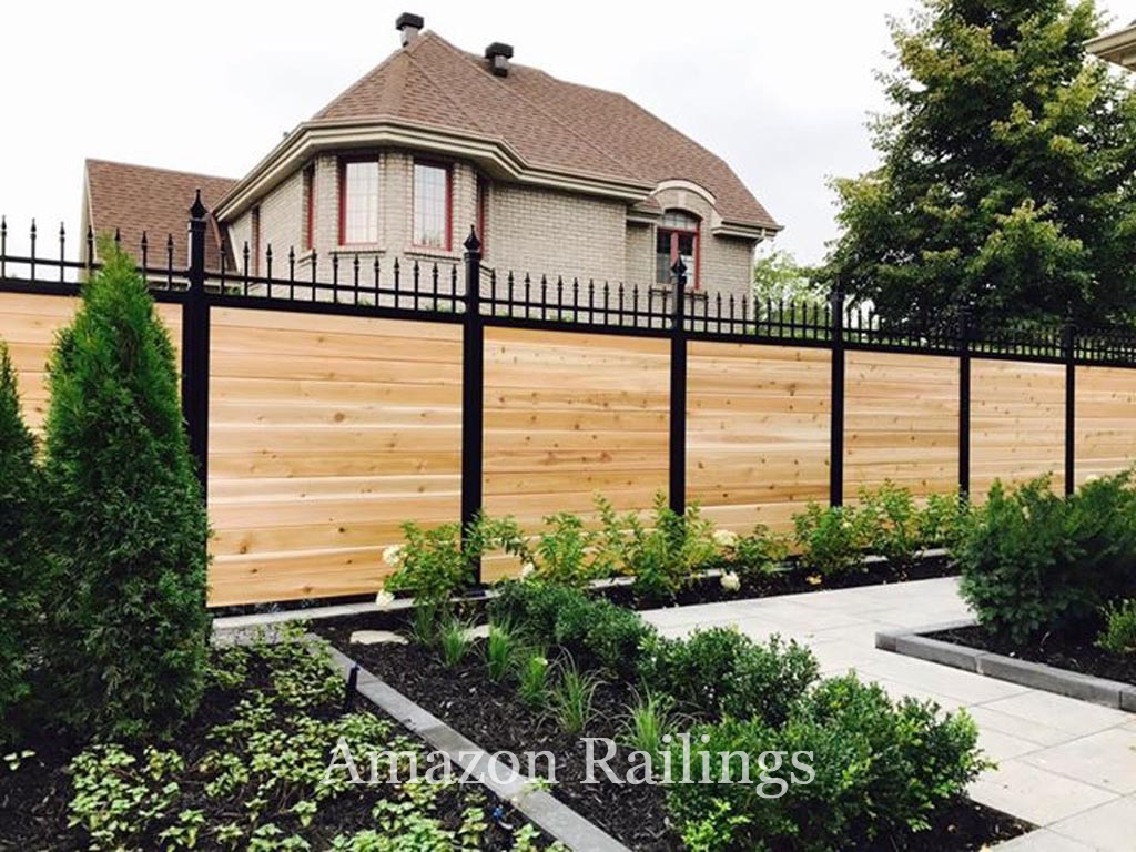 Top-Grade Wood Fence Panels with Aluminum Post